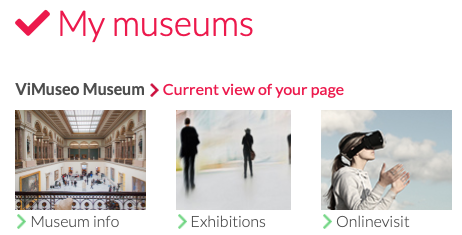 How information about a museum can be processed
